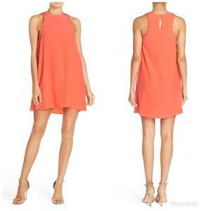 Amanda Uprichard Allegra Tie Side Silk Swing Dress